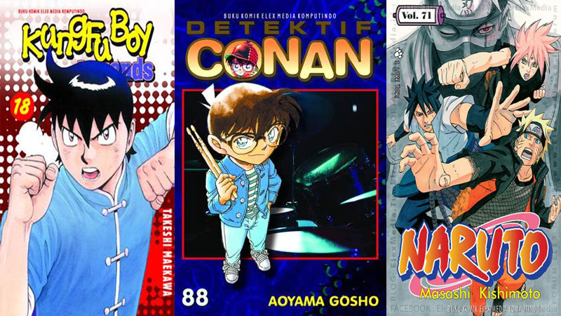 10 Manga Terlaris April 2016, Naruto dan One Piece Digeser Bocah Detektif!