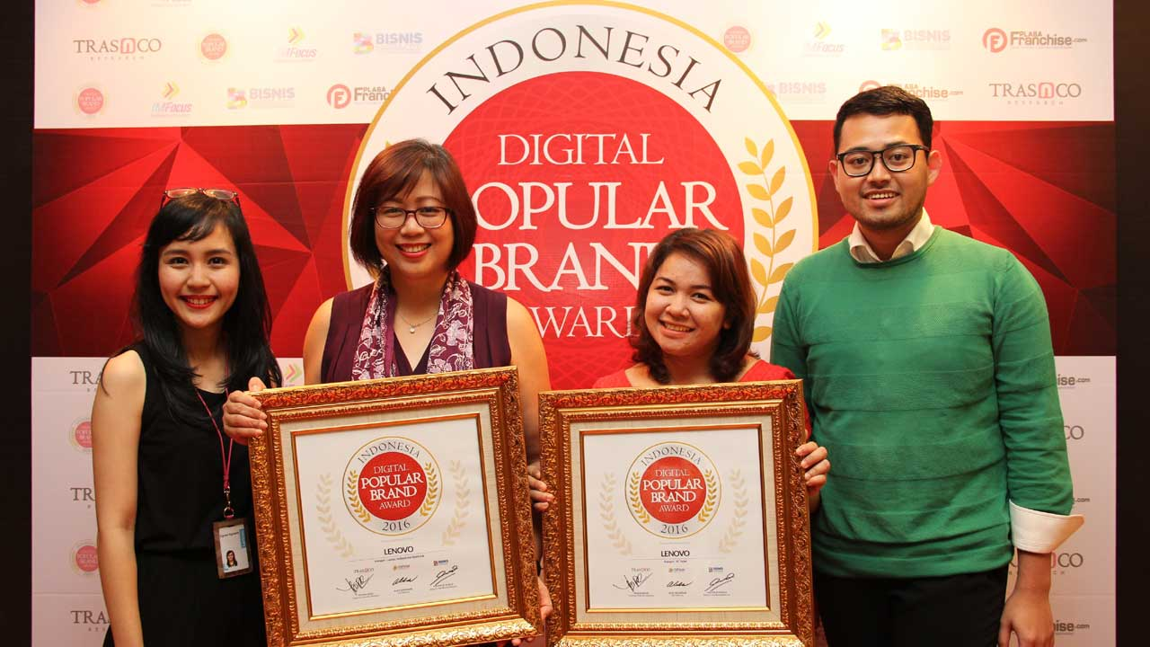 Lenovo Indonesia Raih Digital Popular Brand Award 2016