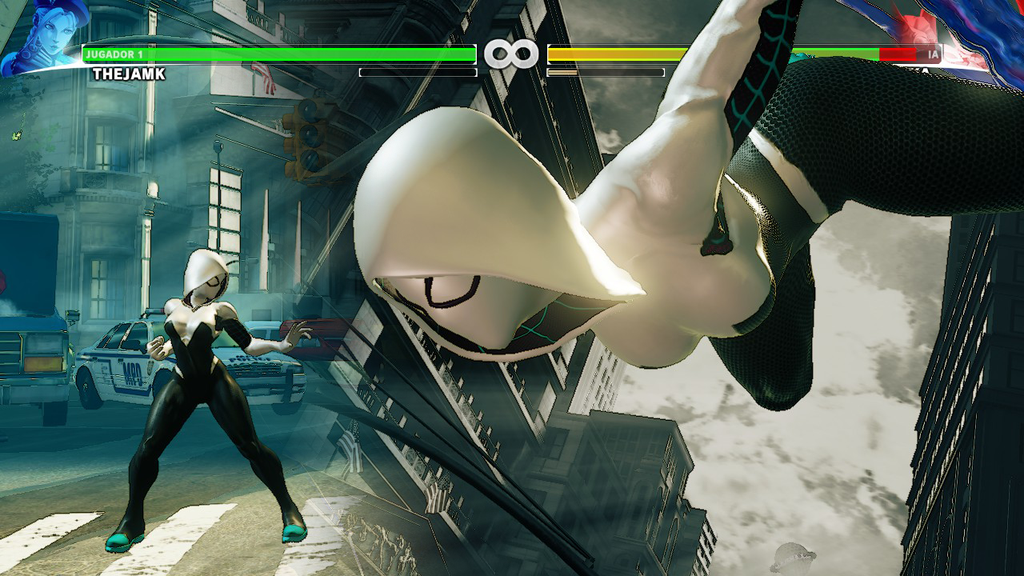 Ada Spider-Gwen di Street Fighter V!
