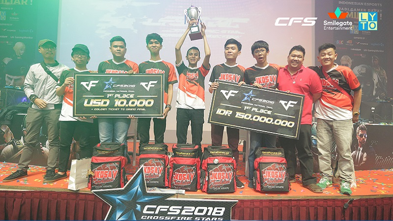 Jkosav Wakili Indonesia pada Grand Final Crossfire Stars 2018 di China